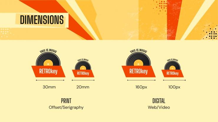 Plantilla de presentación Branding para discográficas