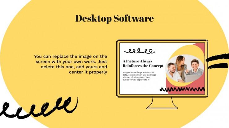 Doodles & Elipsen Business Meeting Präsentationsvorlage