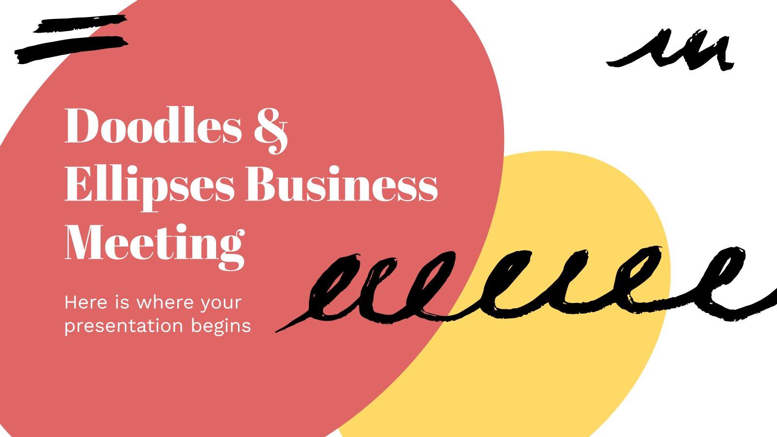 Doodles & Ellipses Business Meeting presentation template