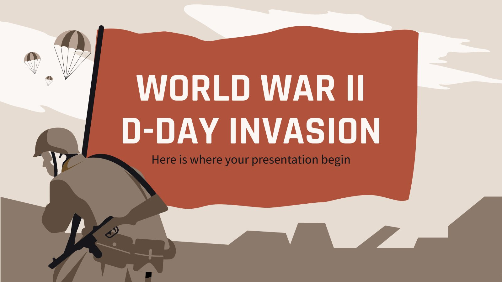 World War II D-Day Invasion presentation template