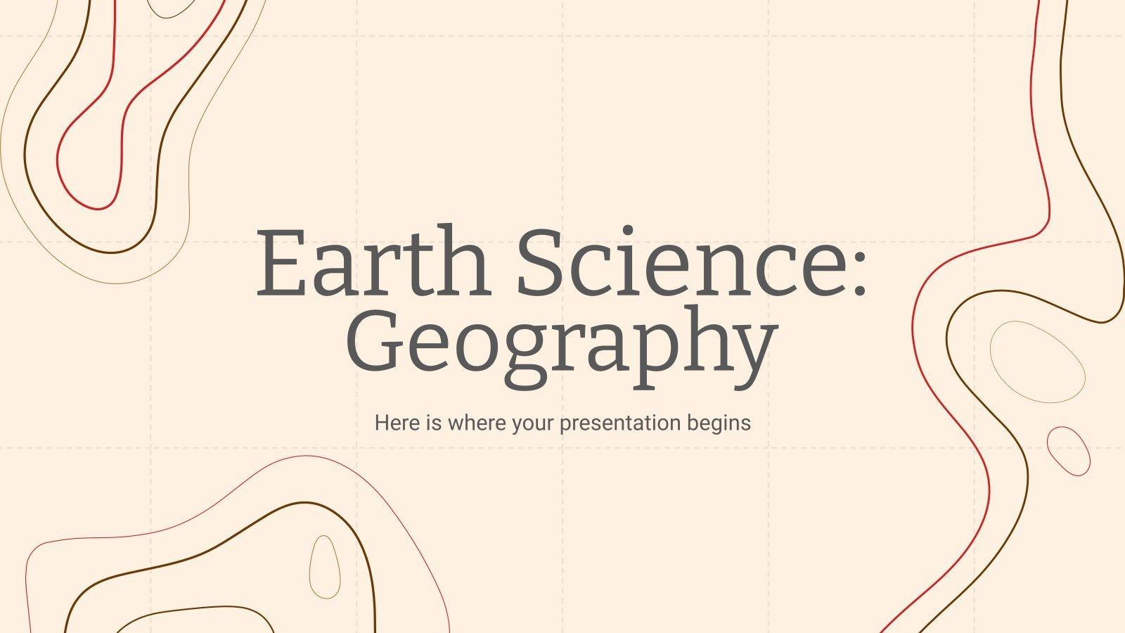Plantilla de presentación Ciencias de la Tierra: Geografía