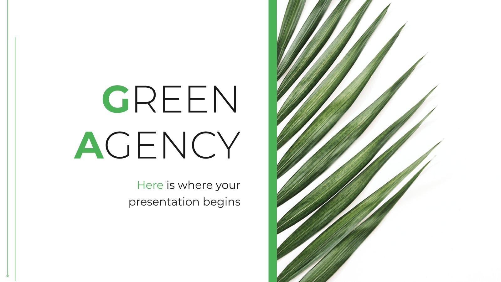 Modelo de apresentação Agência verde