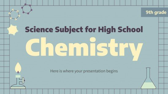 Sciences pour le lycée : chimie : Modèles de présentation