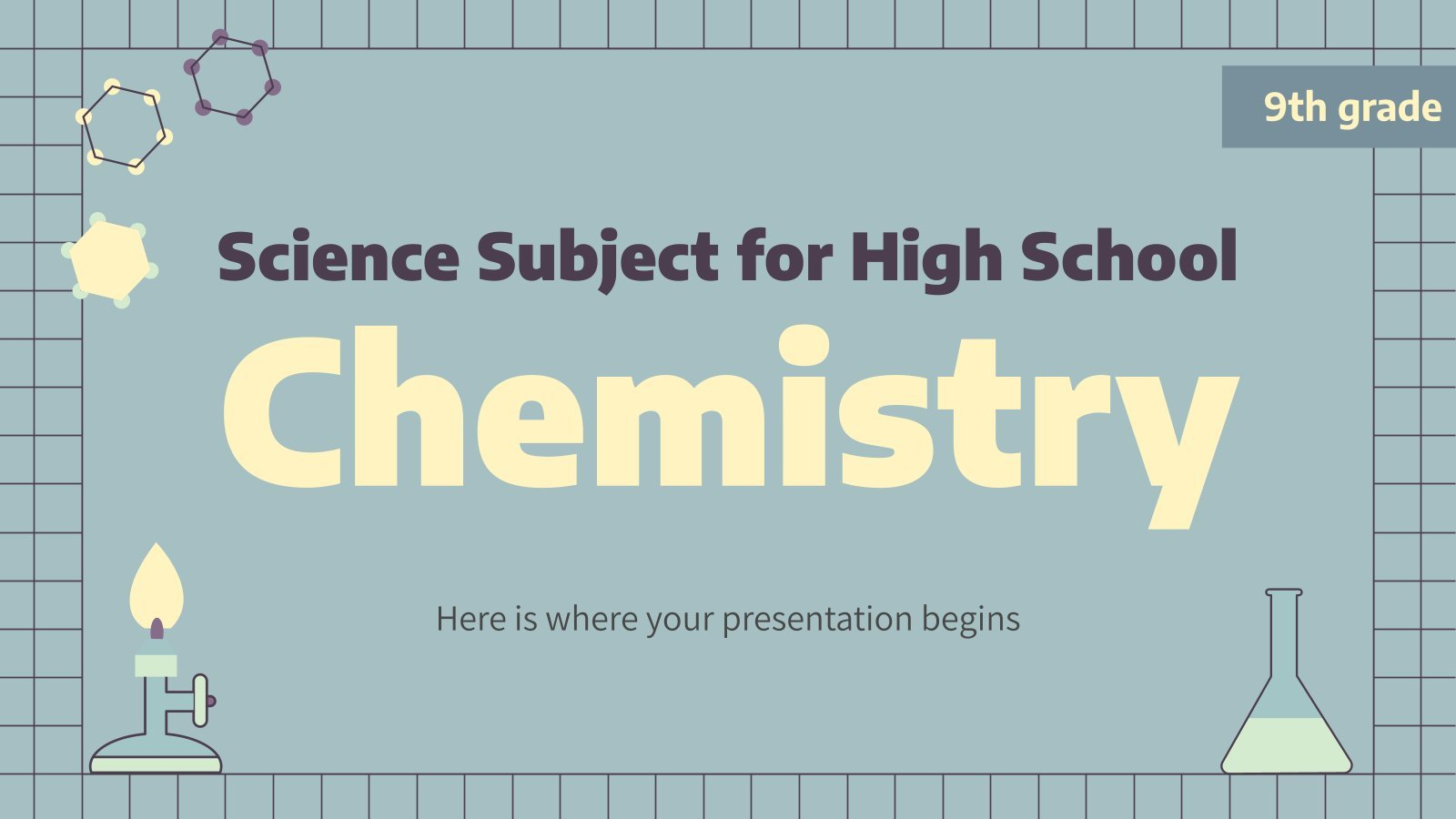 Science Subject for High School - 9th Grade: Chemistry presentation template
