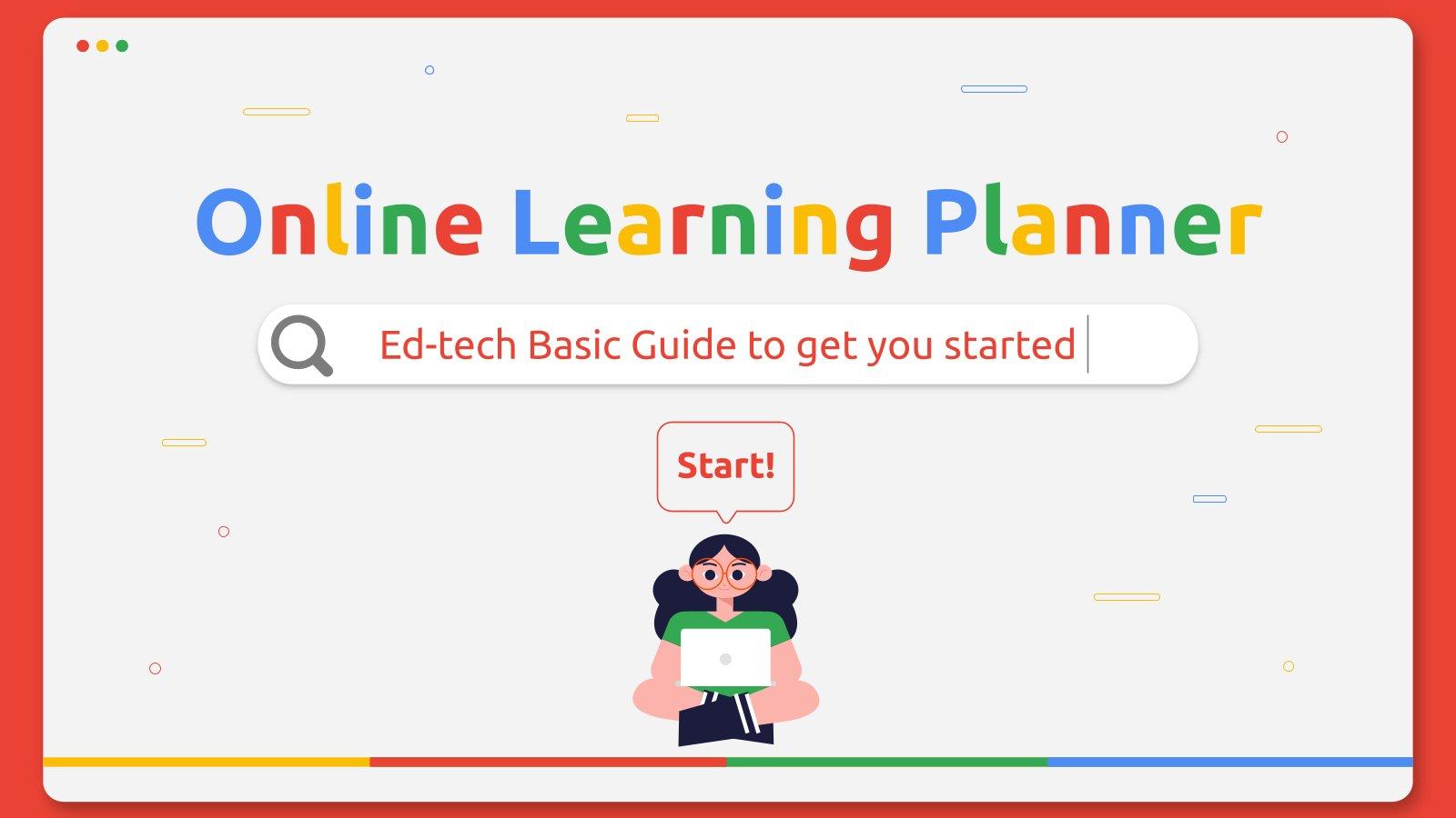 Planer zum Online-Lernen Präsentationsvorlage