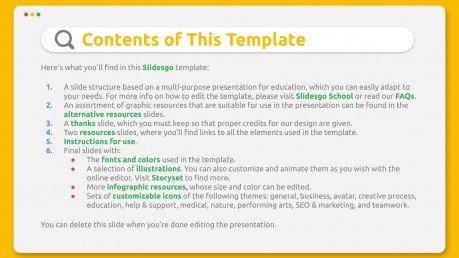 Agenda d´apprentissage en ligne : Modèles de présentation