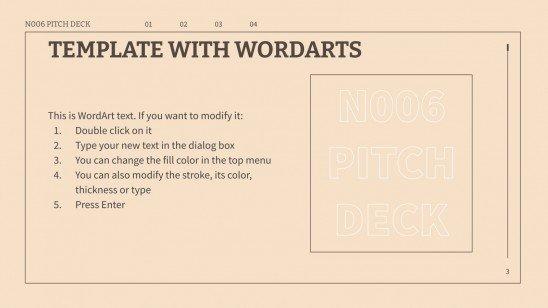 Pitch deck N006 : Modèles de présentation