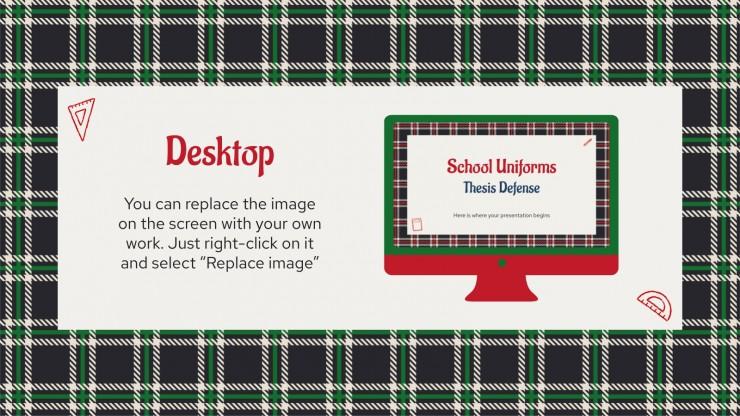 School Uniforms Thesis Defense presentation template
