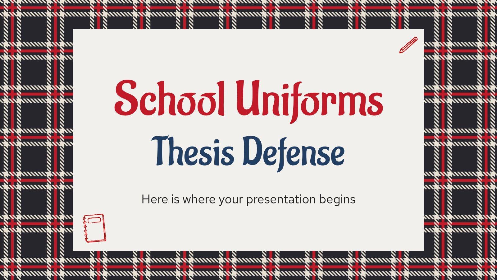 Schuluniformen Abschlussarbeit Verteidigung Präsentationsvorlage