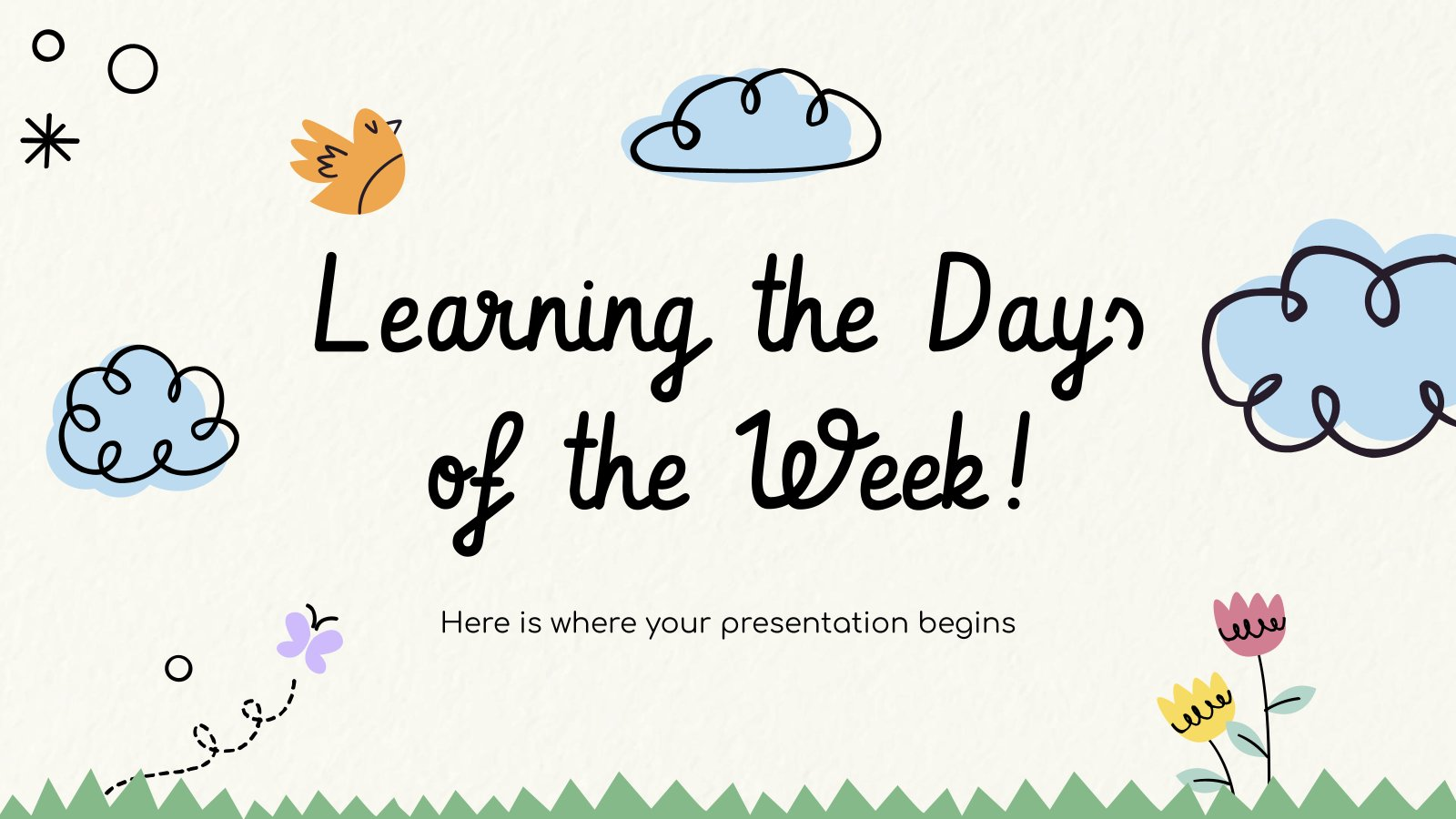 Learning the Days of the Week! presentation template