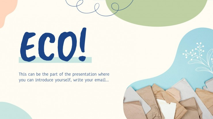 Modelo de apresentação Dia do saco de papel ecológico
