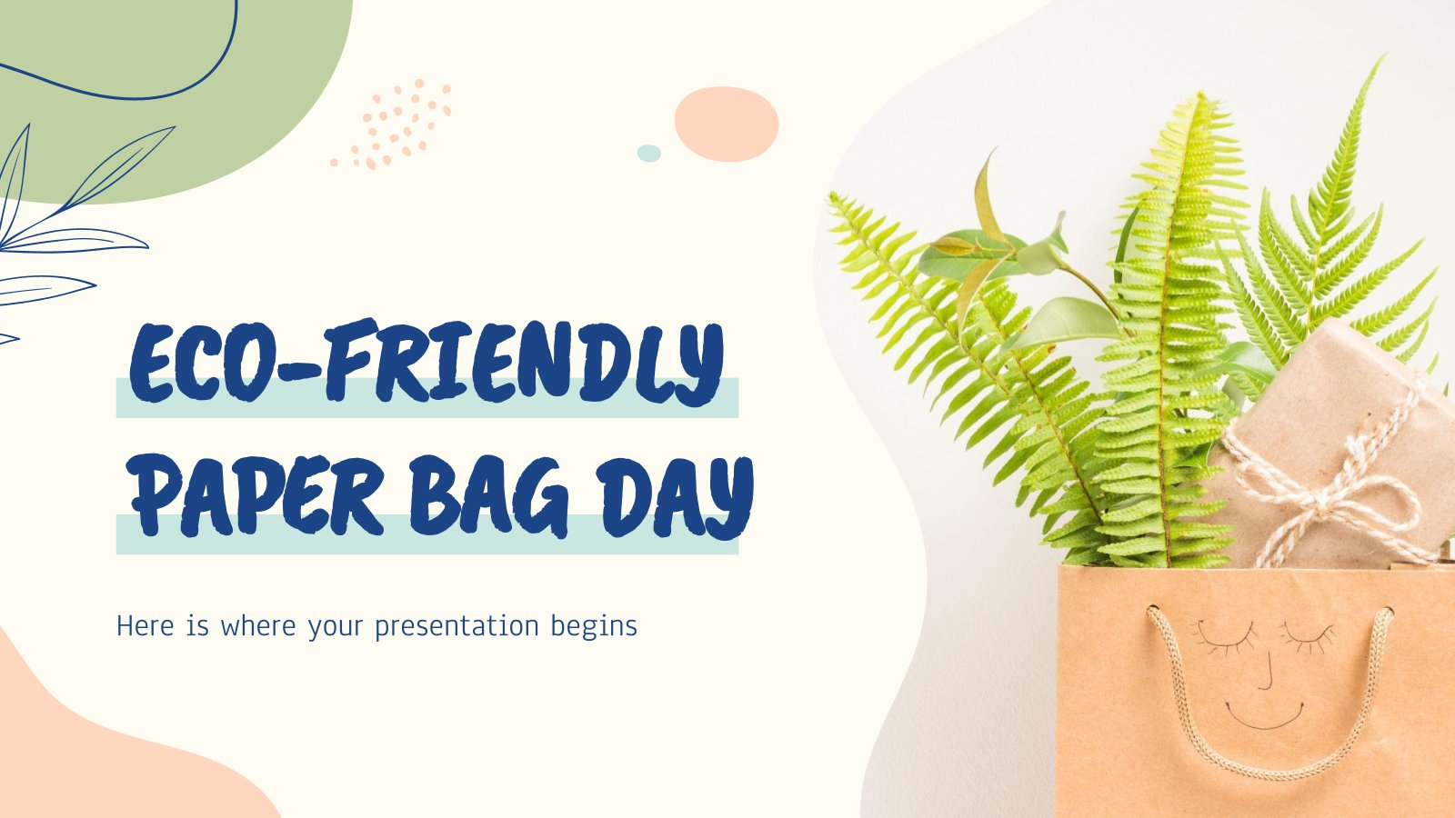 Eco-Friendly Paper Bag Day presentation template