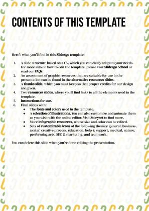 Plantilla de presentación CV con patrones de iniciales