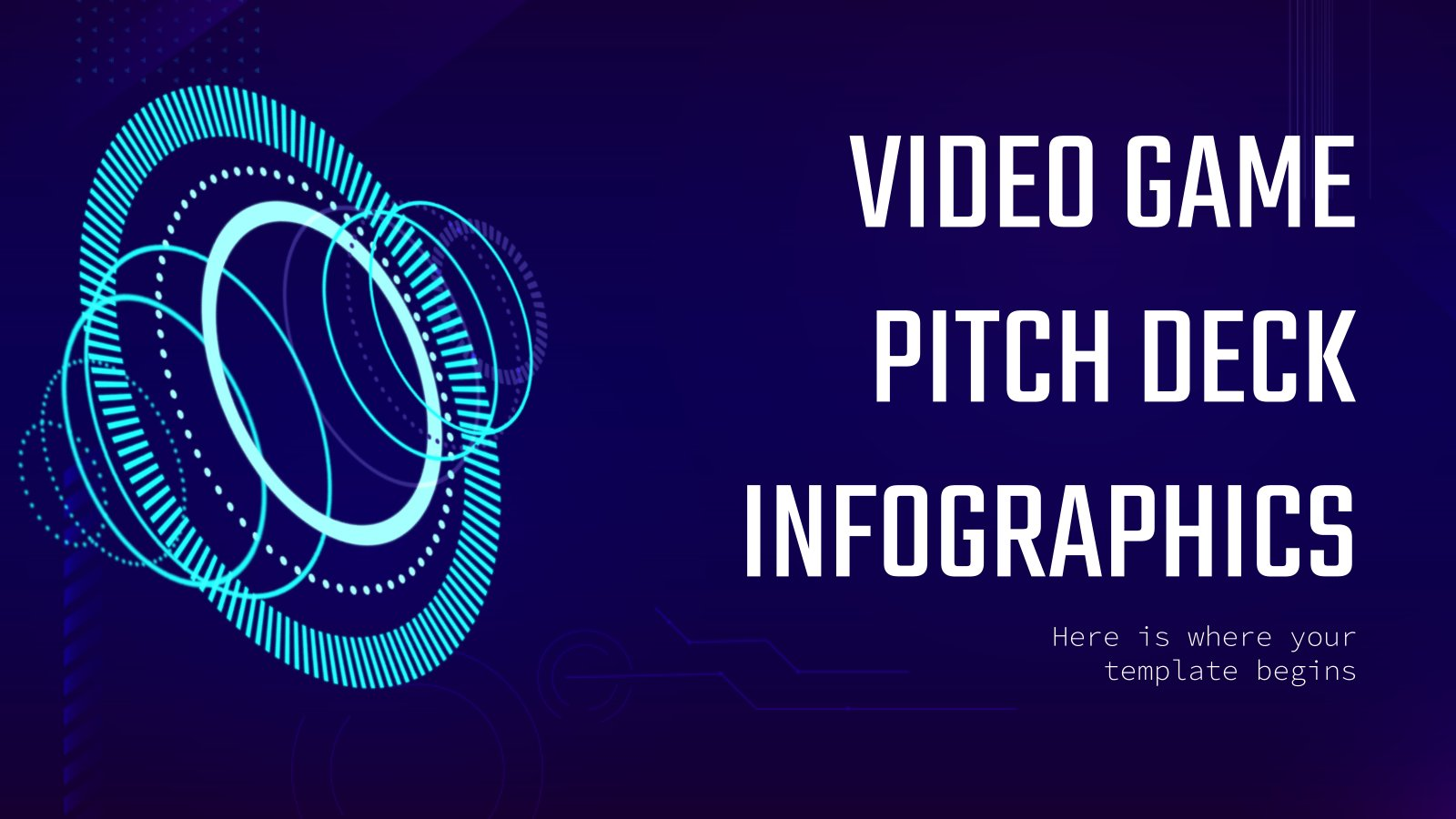 Video Game Pitch Deck Infographics presentation template