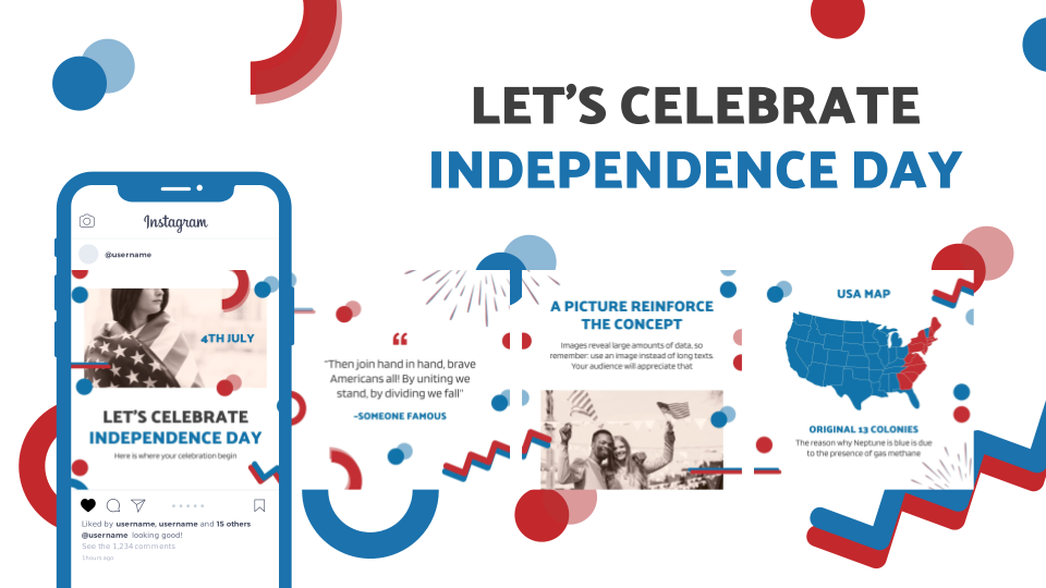 Let's Celebrate Independence Day presentation template