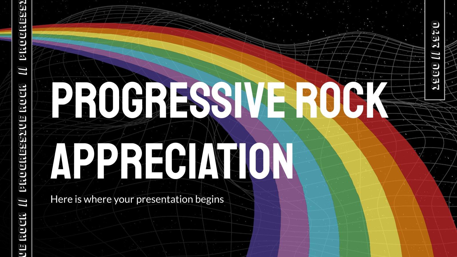 Progressive Rock Appreciation presentation template