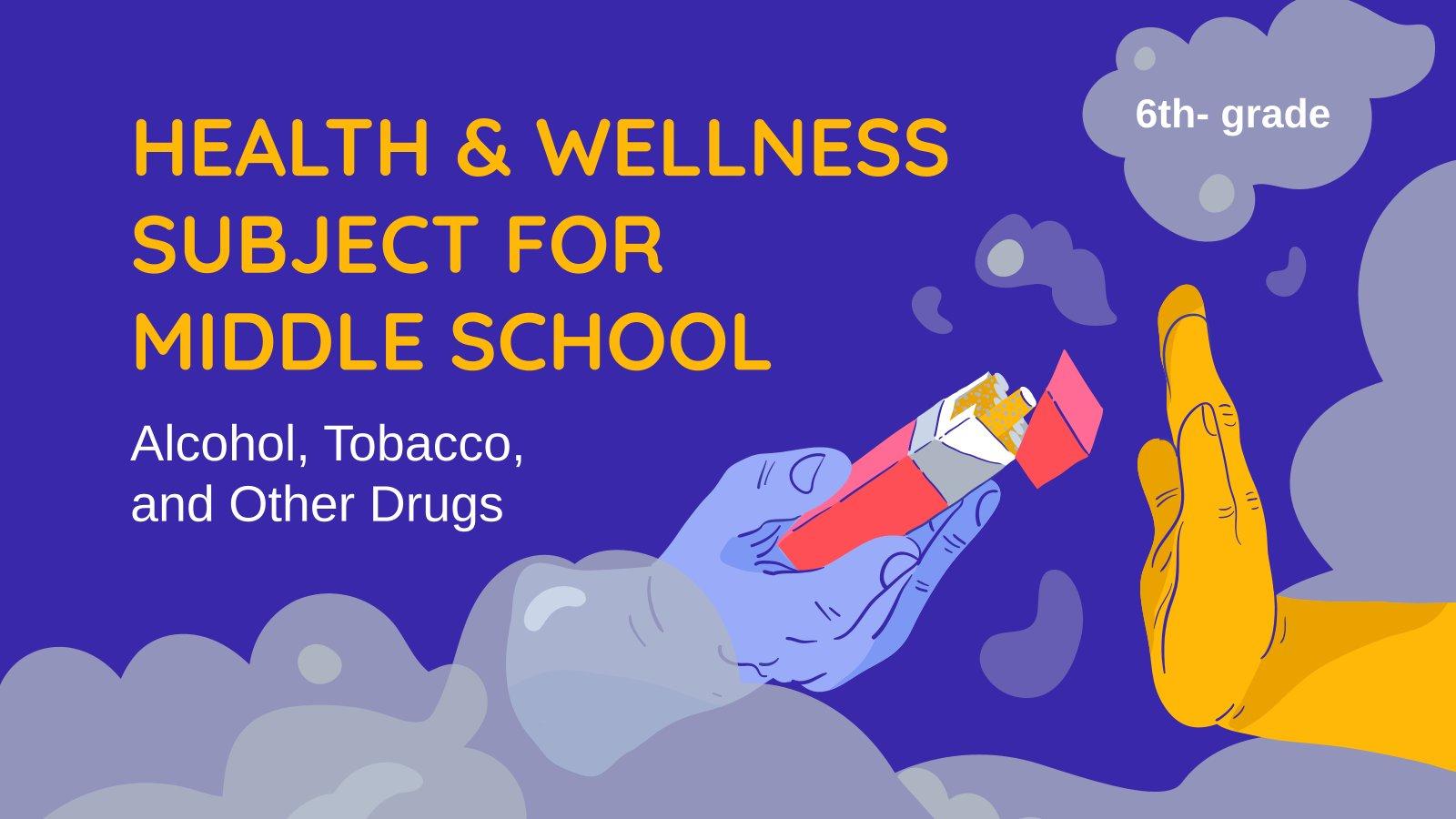 Modelo de apresentação Saúde e bem-estar: álcool, tabaco e outras drogas