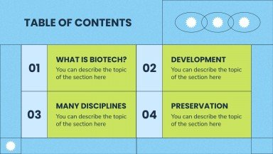 Biotechnology Master Degree presentation template
