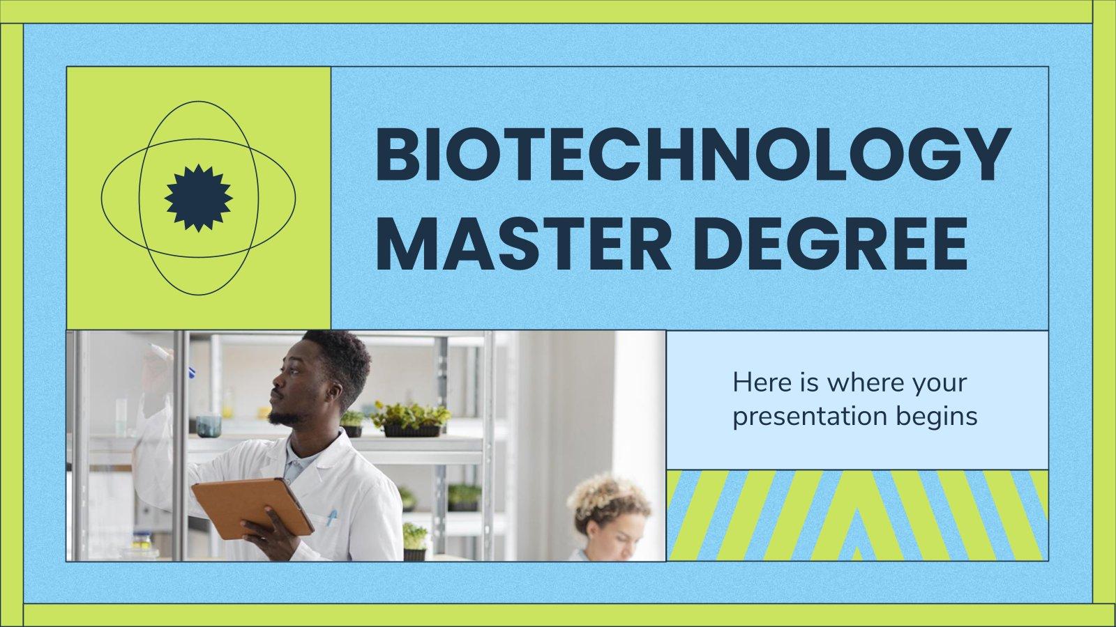 Masterstudium Biotechnologie Präsentationsvorlage