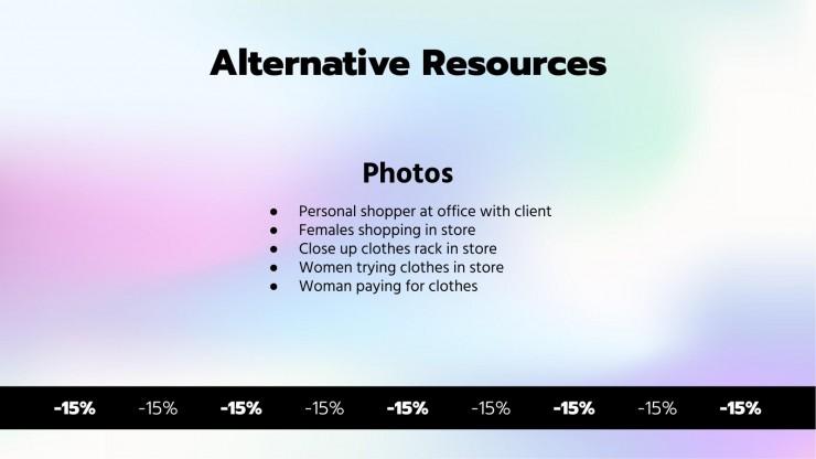 Shopping with Elegant Sales MK Plan presentation template