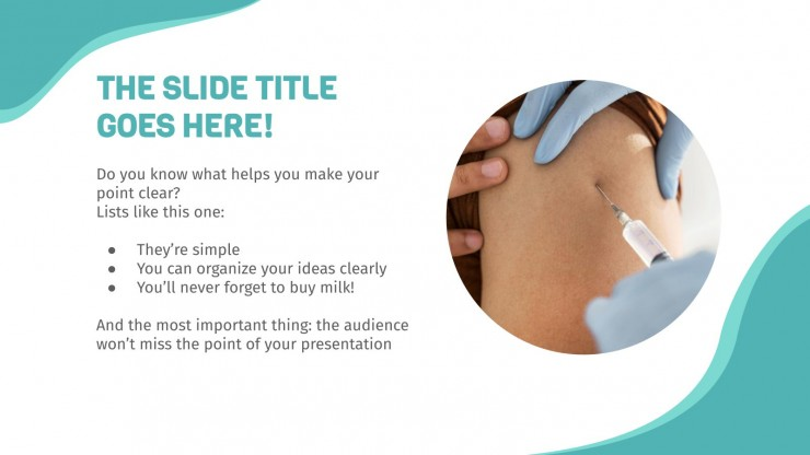 Vaccination Thesis Defense presentation template