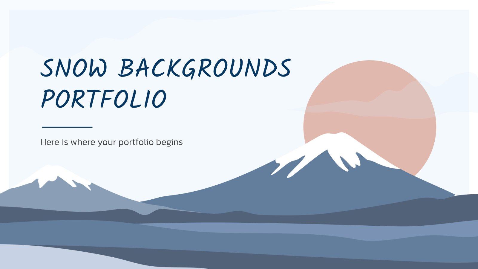 Snow Backgrounds Portfolio presentation template