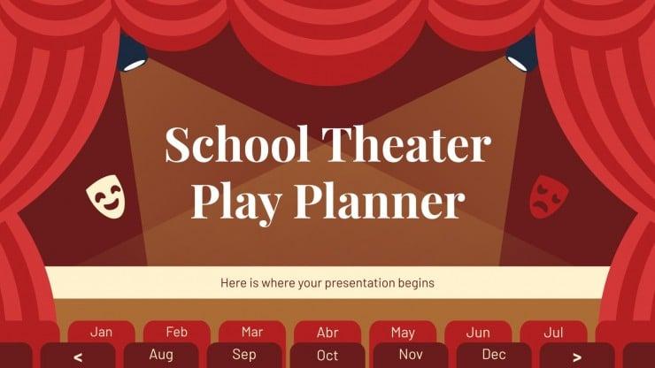 School Theater Play Planner presentation template