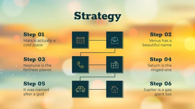Sunny Social Media presentation template