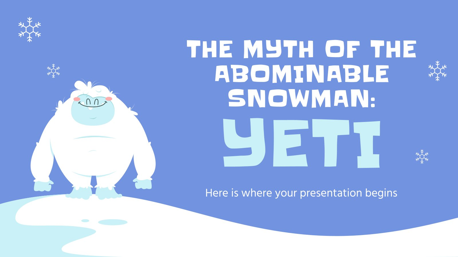 The Myth of the Abominable Snowman: Yeti presentation template