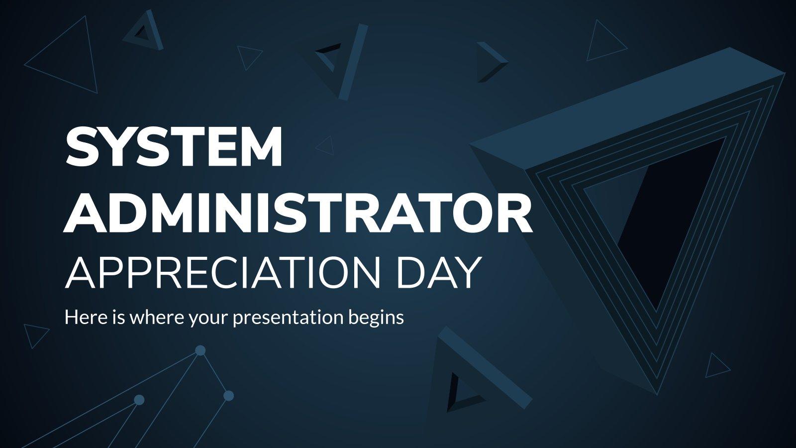 System Administrator Appreciation Day presentation template