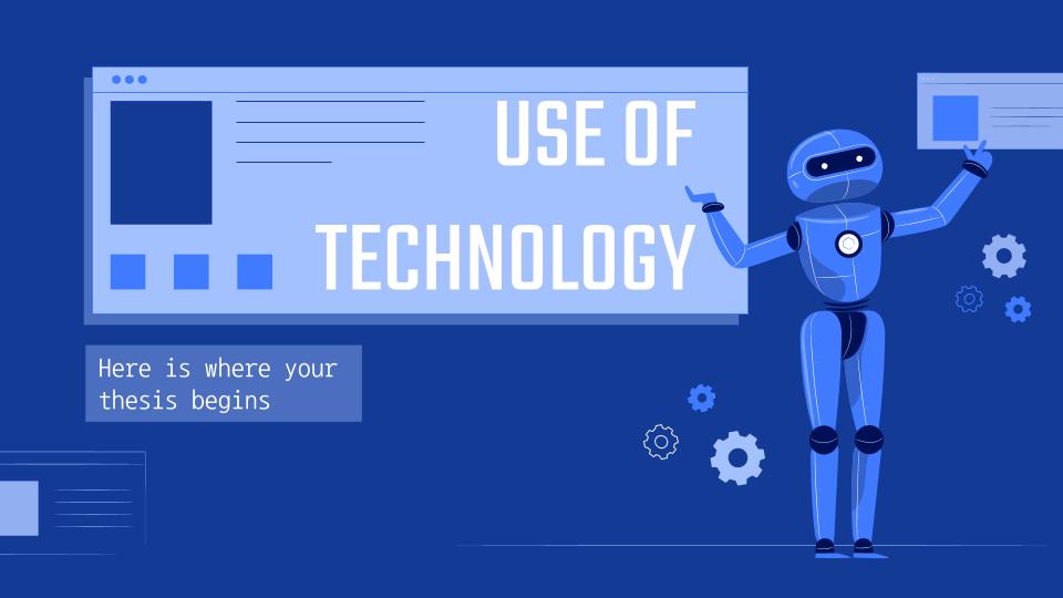 Modelo de apresentação Trabalho sobre o uso das tecnologias