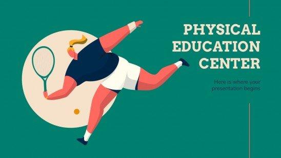 Plantilla de presentación Centro de educación física