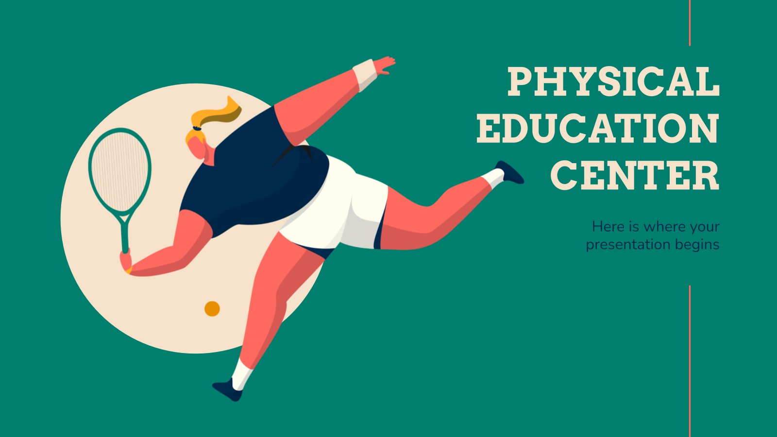 Physical Education Center presentation template