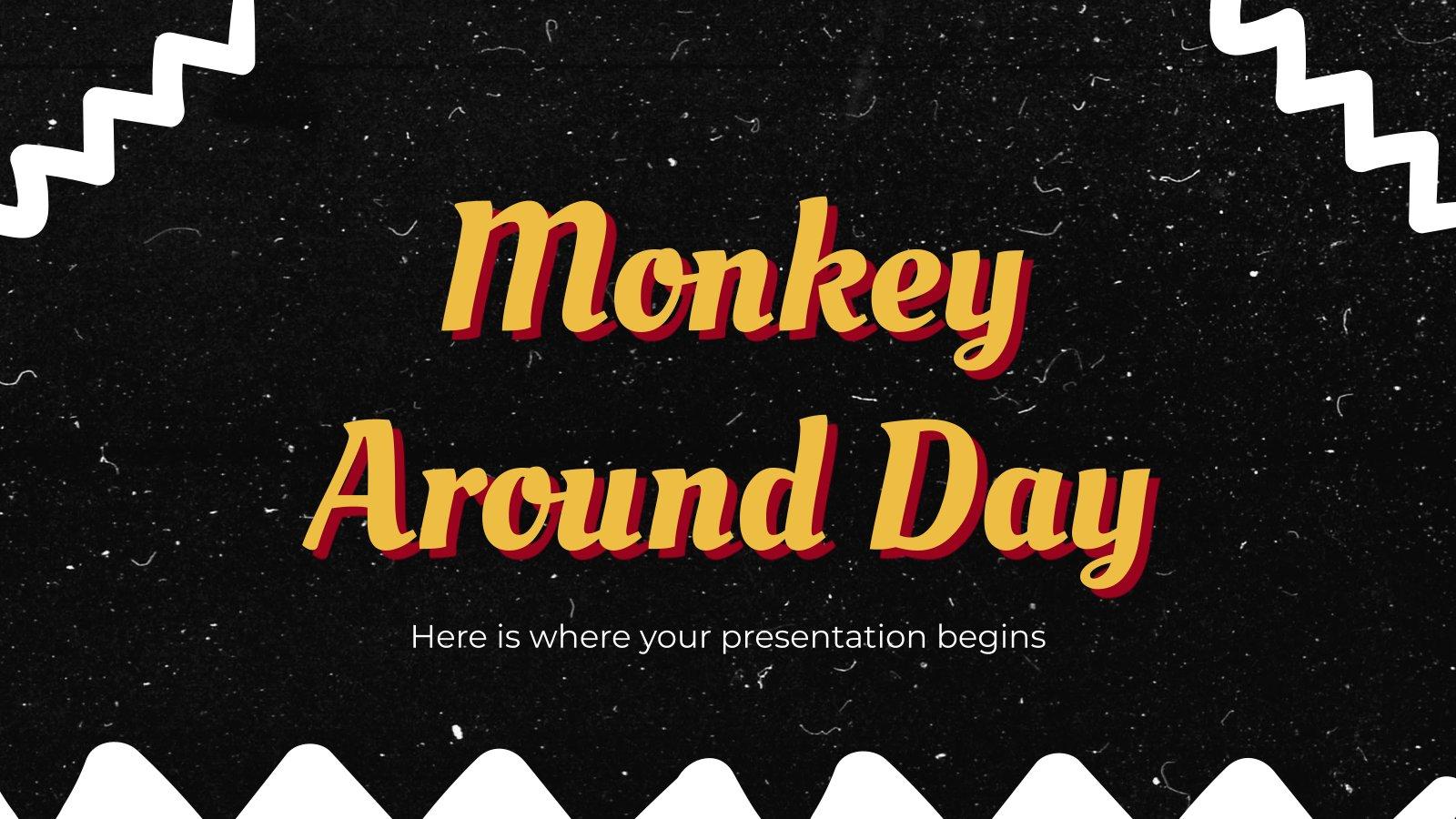 Monkey Around Day presentation template