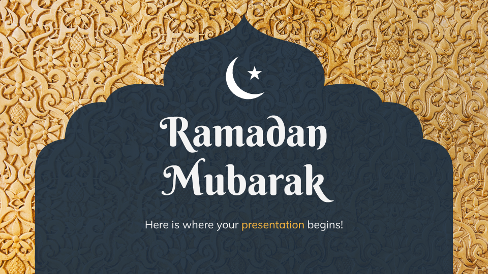 Modelo de apresentação Ramadã