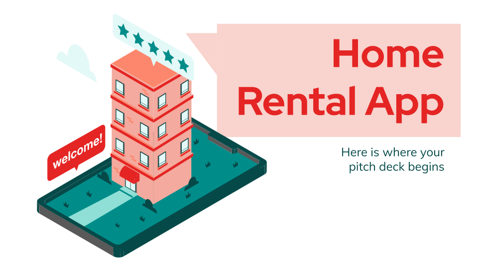 Home Rental App Pitch Deck presentation template