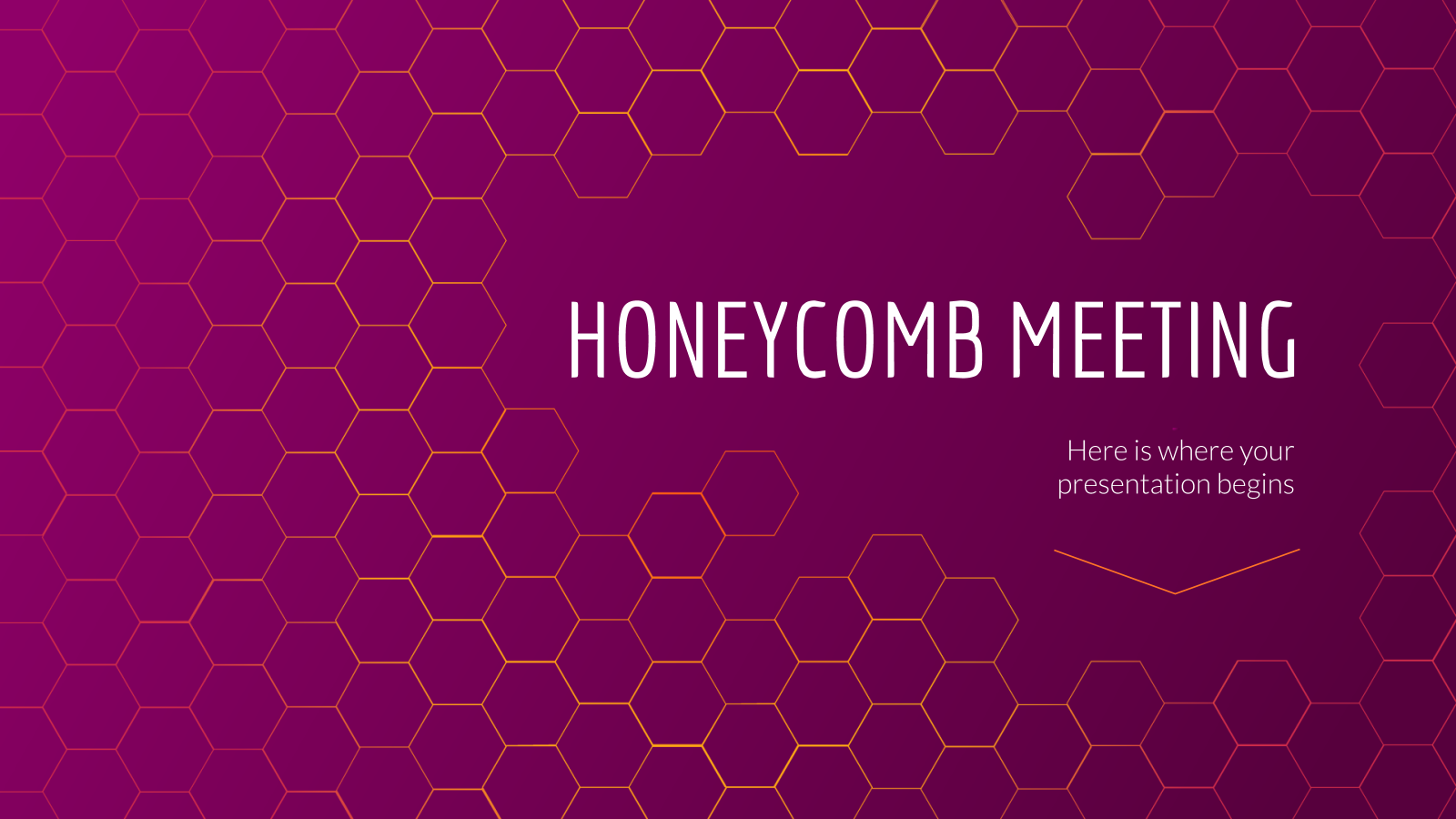 Honeycomb Meeting presentation template