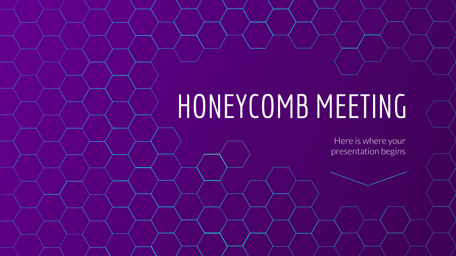 Honeycomb Meeting presentation template