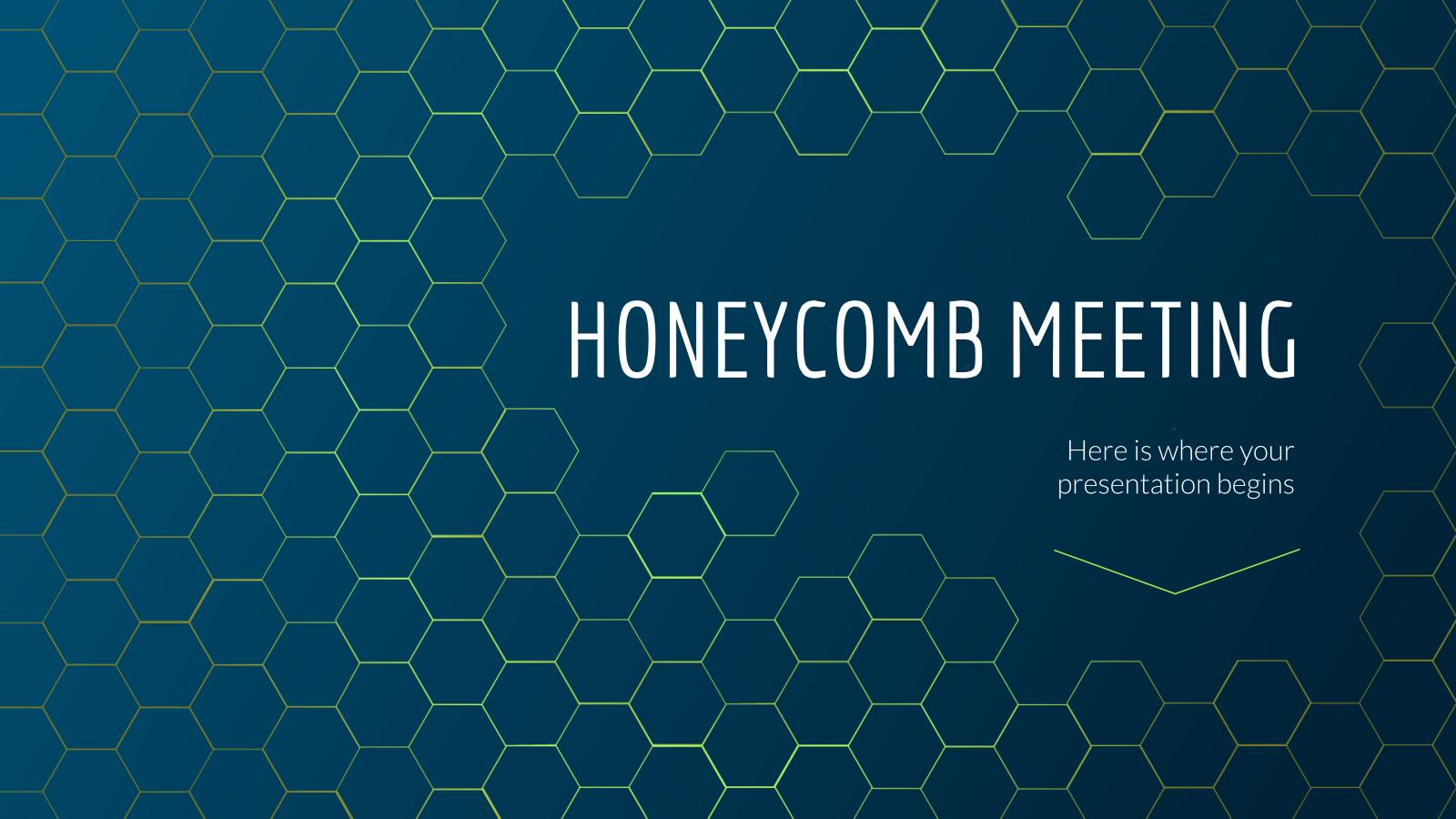 Plantilla de presentación Diseño apanalado para reuniones