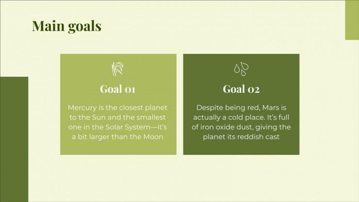 Projektvorschlag für nachhaltige Landwirtschaft Präsentationsvorlage