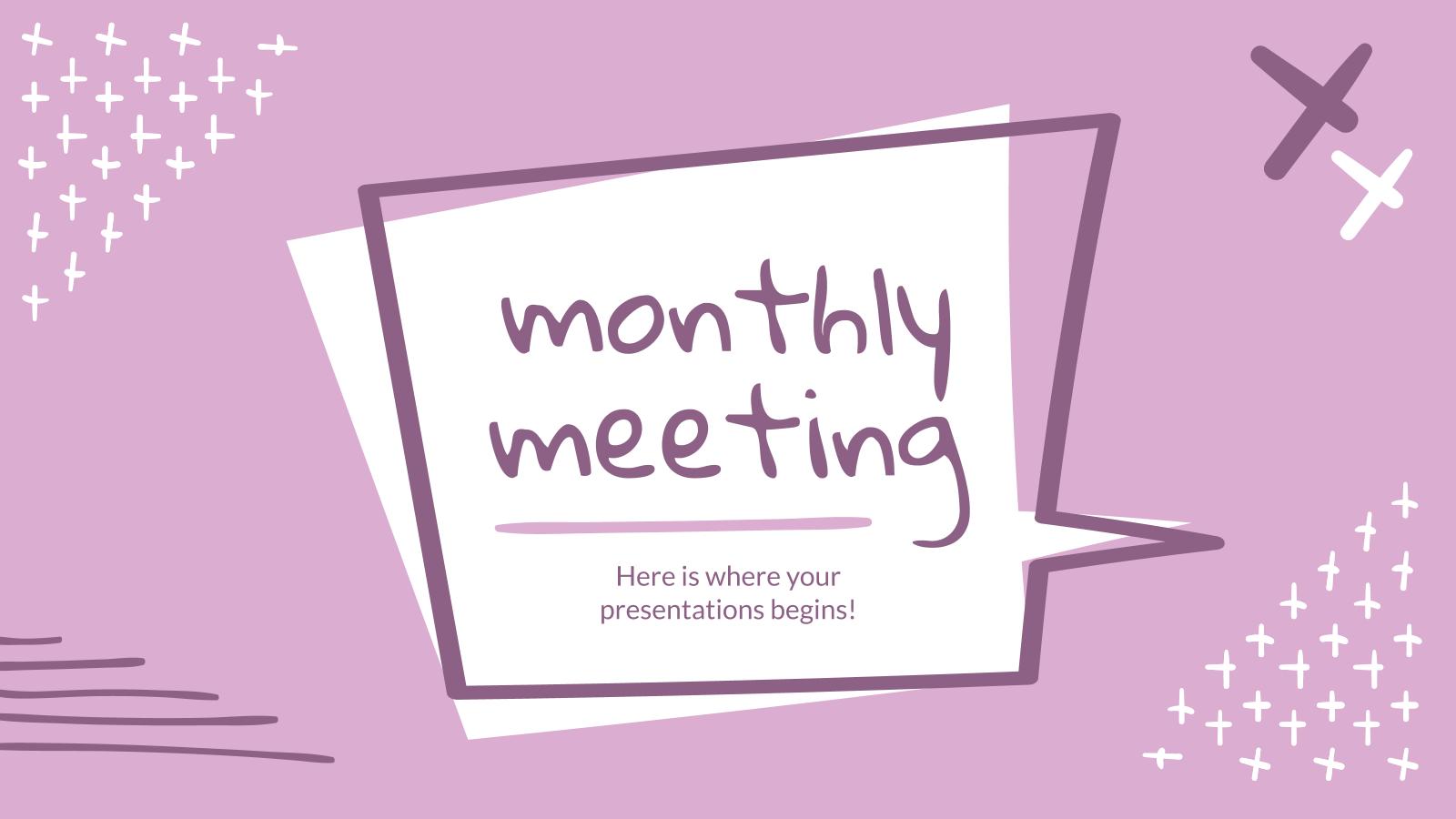 Plantilla de presentación Reunión mensual