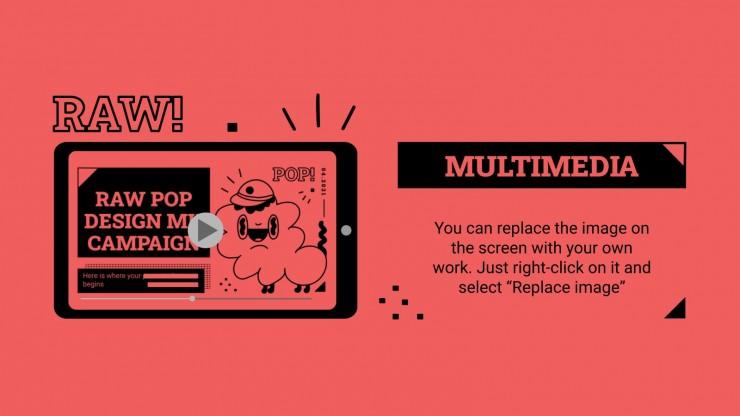 Raw Pop Design MK Campaign presentation template