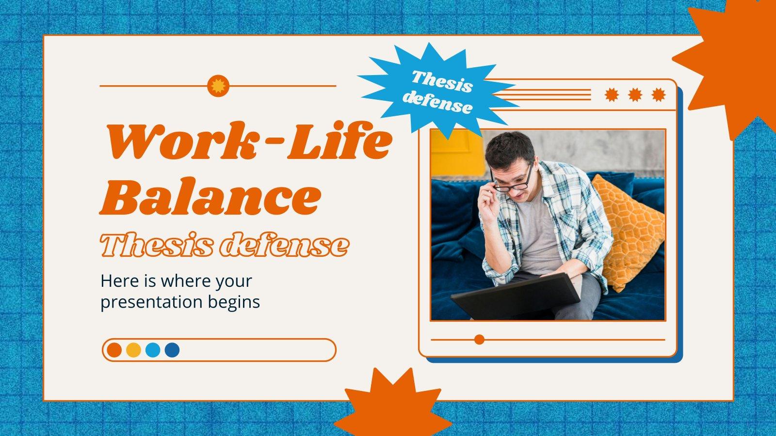 Work-Life Balance Thesis Defense presentation template