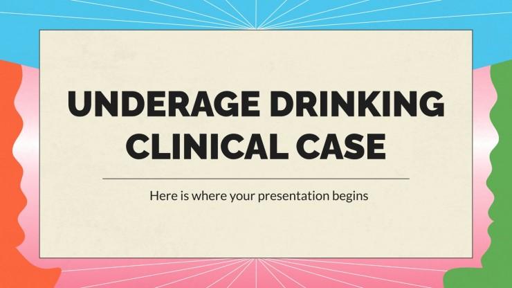Plantilla de presentación Caso clínico de consumo de alcohol en menores
