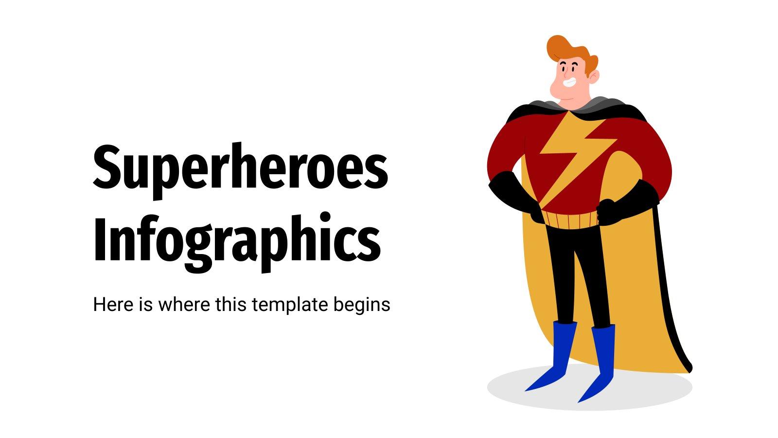 Plantilla de presentación Infografías de superhéroes