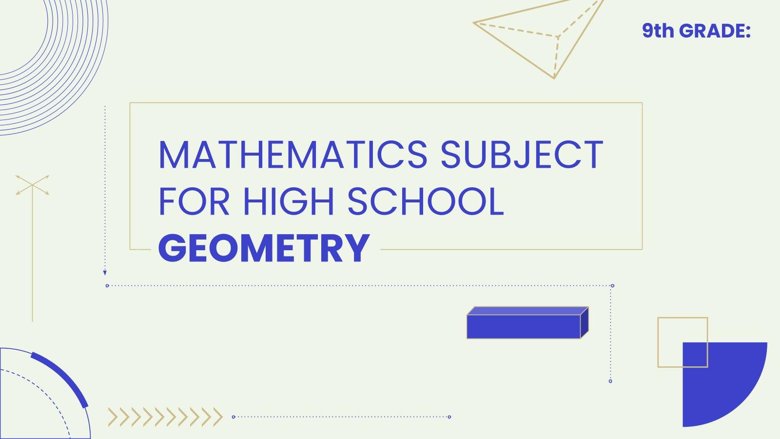Plantilla de presentación Matemáticas para secundaria: Geometría