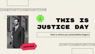 Internationaler Tag der Gerechtigkeit Präsentationsvorlage