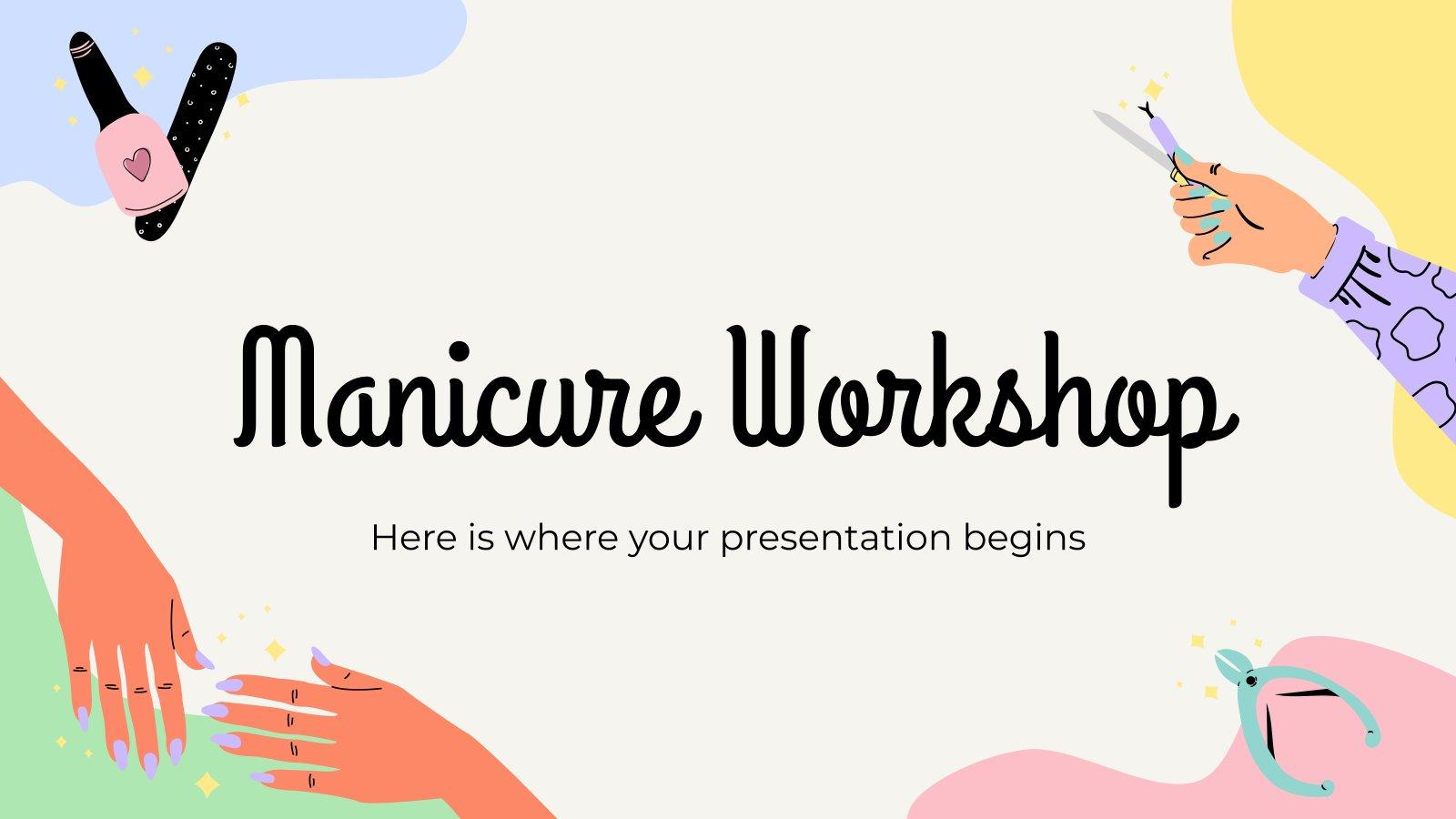 Maniküre Workshop Präsentationsvorlage