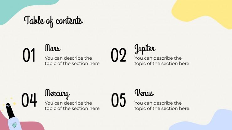 Atelier de manucure : Modèles de présentation