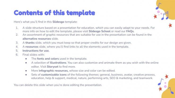 Music Subject for Pre-K: Tempo presentation template